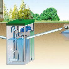 Монтаж автономной канализации в грунты с высоким уровнем грунтовых вод